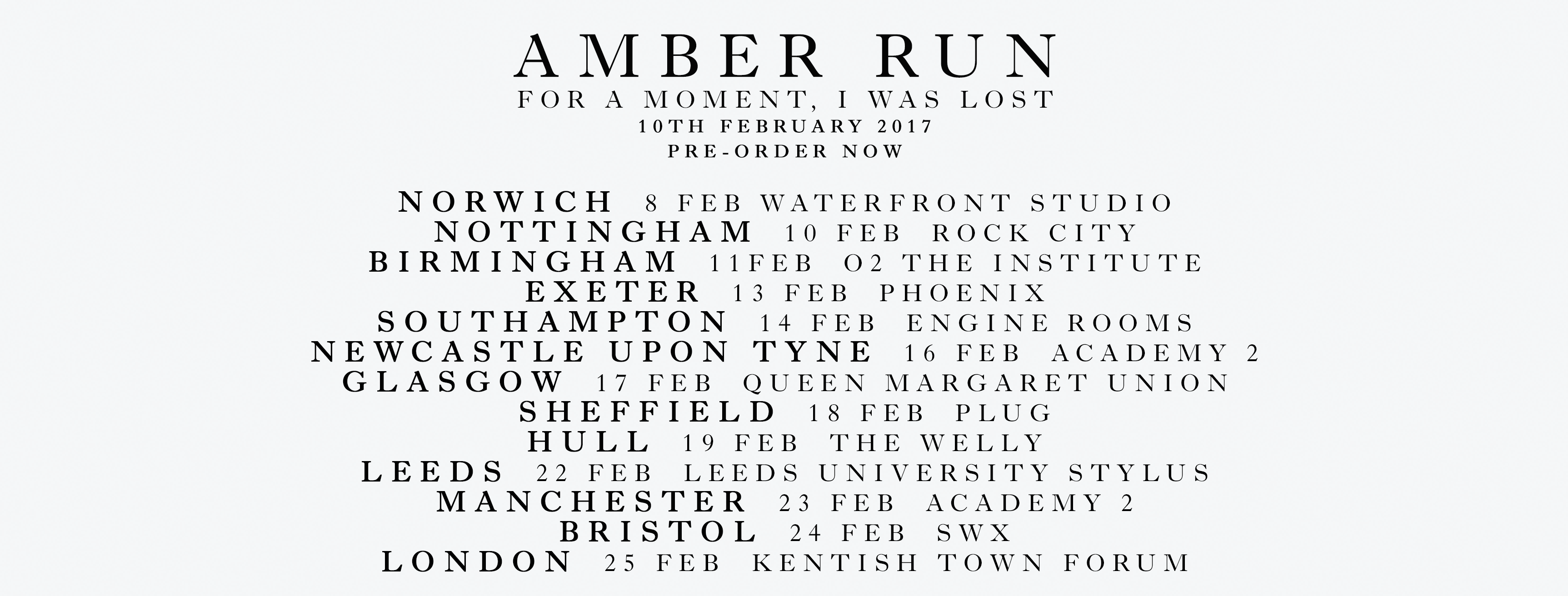 Amber Run Tour 2017